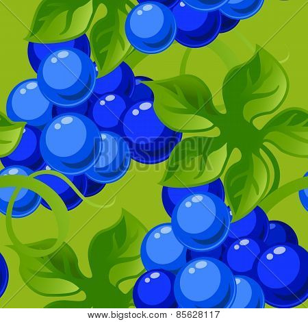 seamless background with bright fresh jucy grapes.