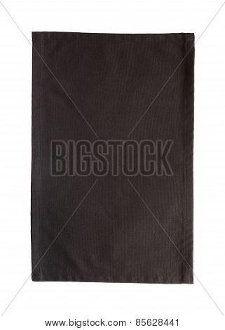 Black canvas tablecloth
