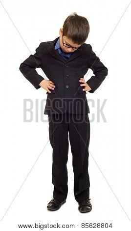 sad boy in suit