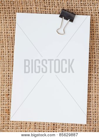 Blank paper note