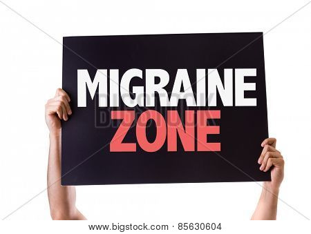 Migraine Zone card isolated on white