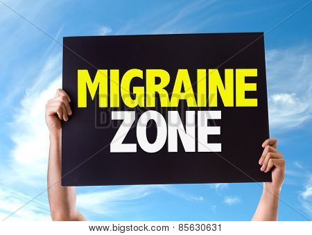 Migraine Zone card with sky background