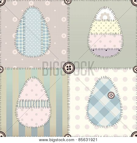 Patchwork easter pattern.