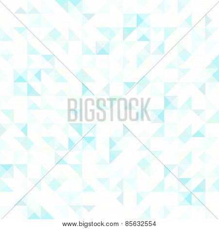 Blue Crystal Seamless Pattern