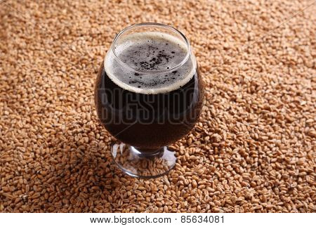 Snifter With Stout Over Malt