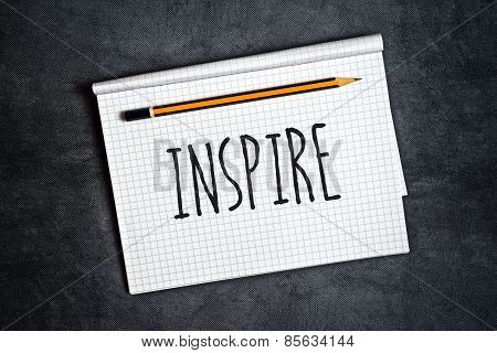 Inspire Creative Writing Concept