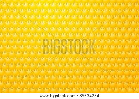 Yellow Background Motive Bee Honeycombs