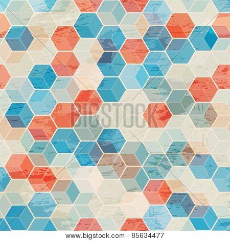 Blue Cubes Seamless