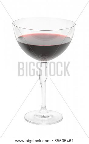 glass of wine isolated on white