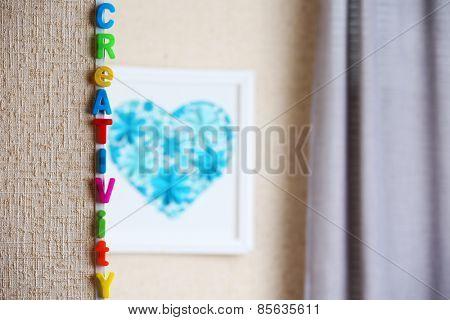 Word creativity on light background