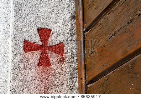 Cross Sumirago  Italy  Varese Abstract   Wall  Broke Brike Day