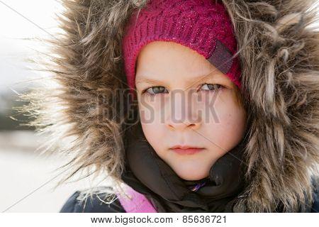 Portrait Of Playful Girl