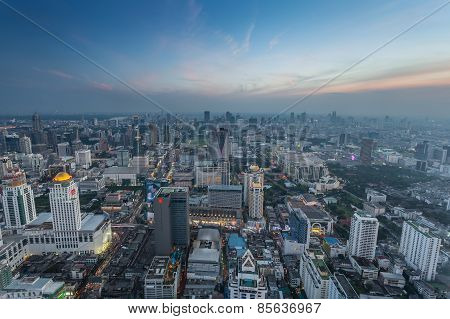 a bird's eye view of bangkok