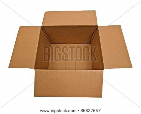 Empty Cardbox With Flaps Out