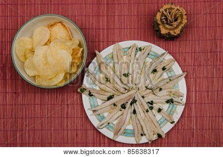 Anchovies In Vinegar And Potatoes