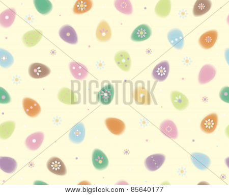 Vector Easter seamless pattern soft blurred effect.