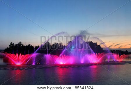 Biggest Fountain On The River Was Opened In Vinnytsia, Ukraine