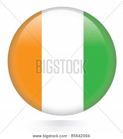 Ivory Coast flag button