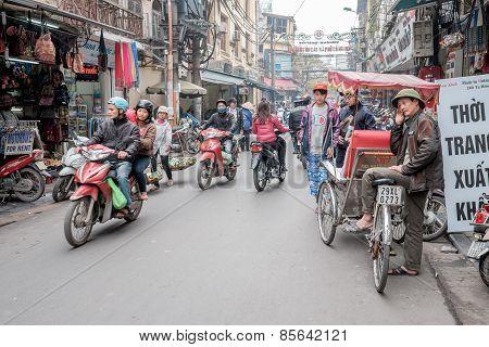 Rickshaw driver in Hanoi