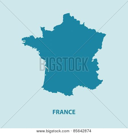 France Map Vector Very Detailed