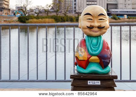 : Japanese Monk Statue in Kobe Japan