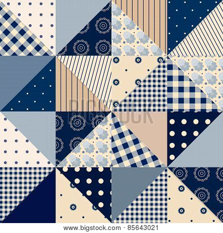 Seamless patchwork of triangles