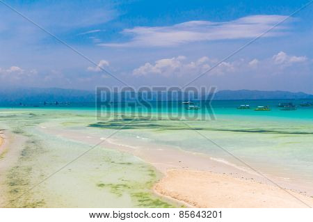 beautiful view on tropical sea, summer vacations
