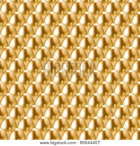 Seamless golden eggs background.