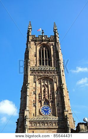Derby Cathedral Tower.