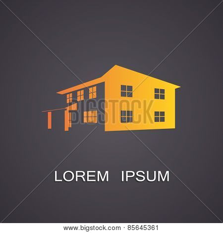 Vector illustration of the symbolic image of the building