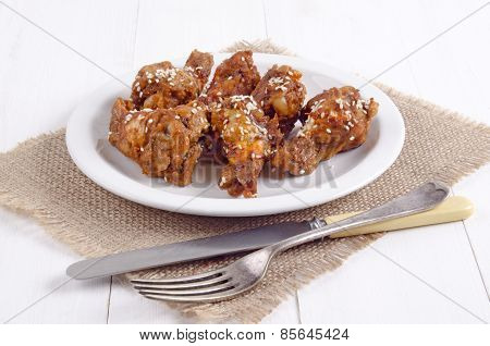 Grilled Chicken Drumsticks With Sesame Seeds