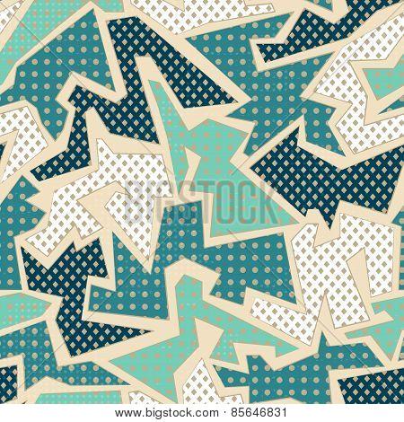 Blue Textile Geometric Seamless Pattern