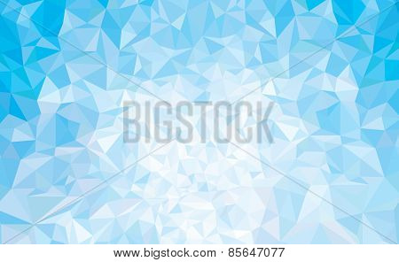Vector abstract triangles blue background.
