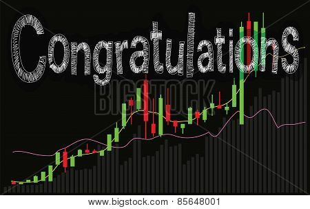 Congratulations Stock Market Graph