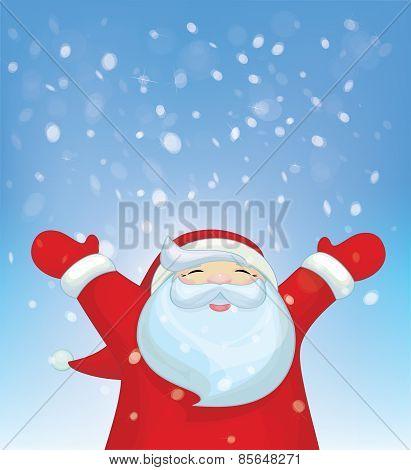 Vector fun Santa Claus.