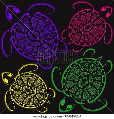 Seamless pattern with turtles. Seamless pattern can be used for wallpaper, pattern fills, web page b