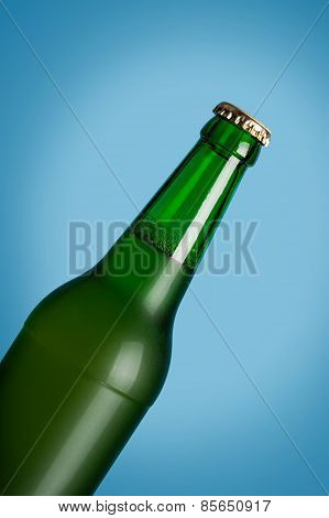 Lager Beer In Glass Bottle