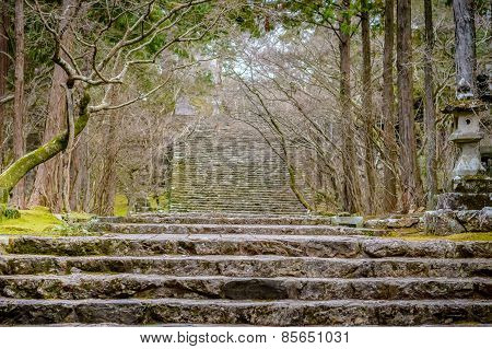 Stone Temple Stairway