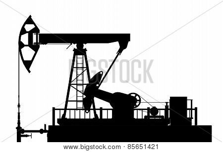 Silhouette Of The Oil Pump