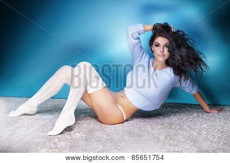 Sexy Beautiful Woman Posing.