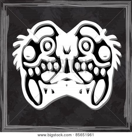 original face masks ancient gods, for tattoo and ancient amulets