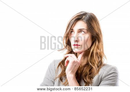 Young Woman's Thinking