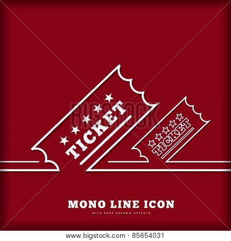 Vector Vintage Ticket background