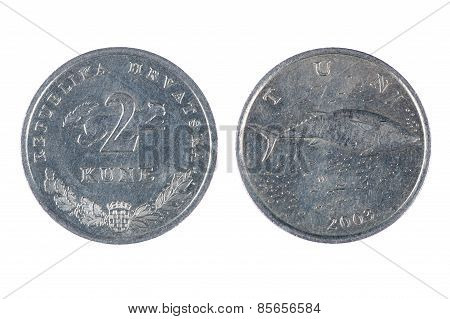 Croatia Coin Isolated