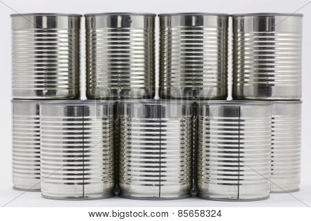 Stack of tin cans