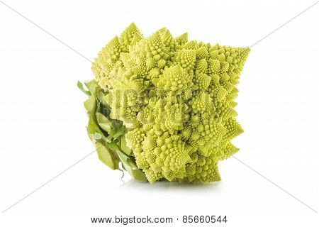 Romanesco Broccoli Vegetable Isolated On White Background