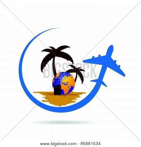 Travel Tropic Color Vector