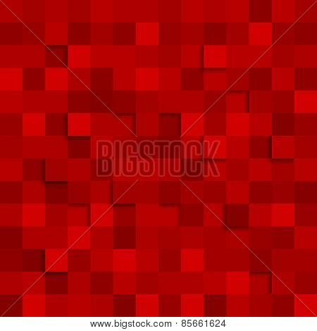 Abstract Square Red Background