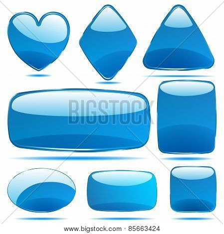 Set Of Opaque Glass Shapes