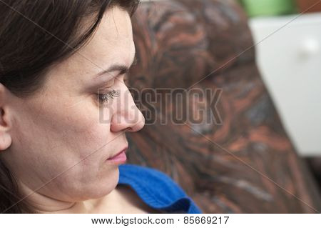 Thoughtful Woman Portrait